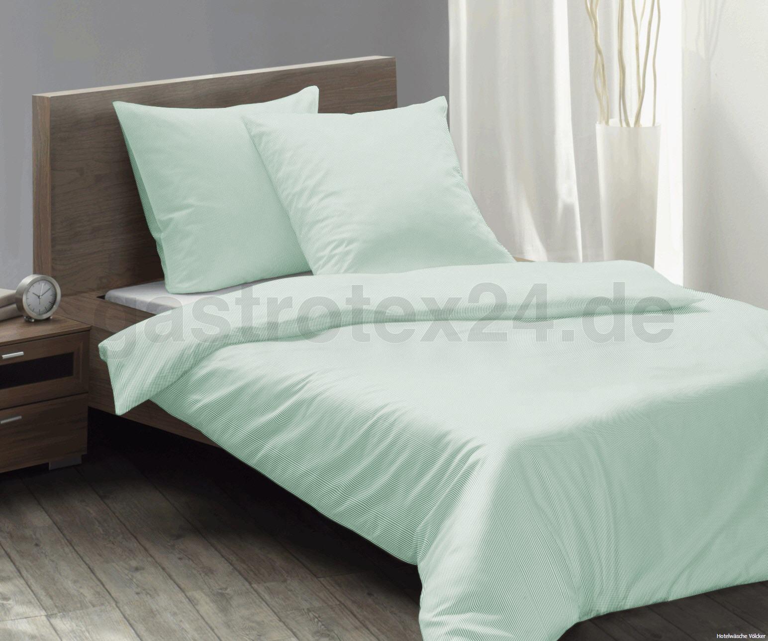 hotel bettw sche garda 2 mm feinstreifen farbe sekt gelb blau apricot mintgr n 100. Black Bedroom Furniture Sets. Home Design Ideas