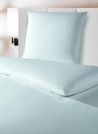 mischgewebe bettw sche 8 mm feinstreifen weiss und sekt gastrotex ihr hotelw sche. Black Bedroom Furniture Sets. Home Design Ideas