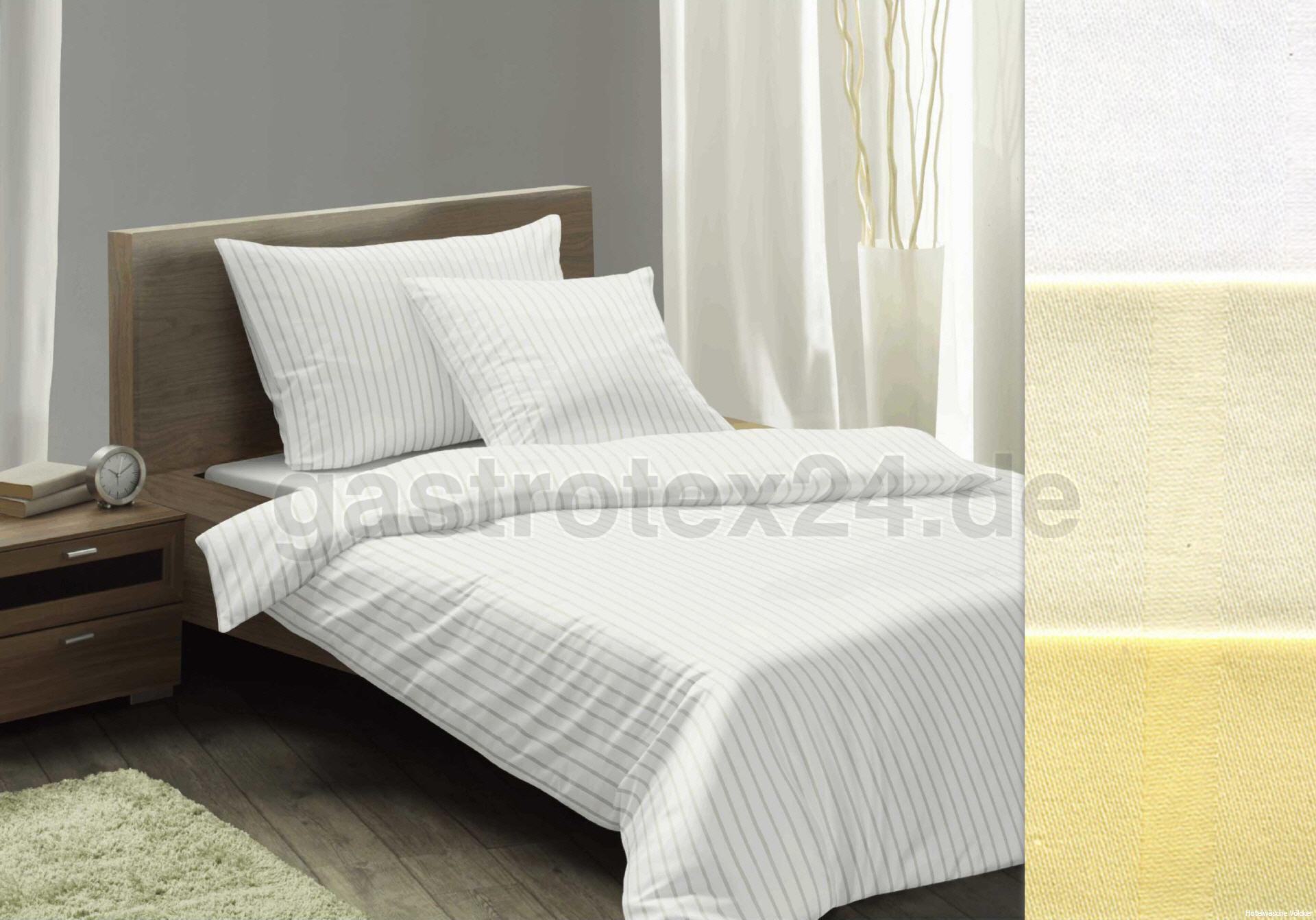 mischgewebe bettw sche wechselstreifen 6 24 mm weiss f r hotel gastronomie gastrotex ihr. Black Bedroom Furniture Sets. Home Design Ideas
