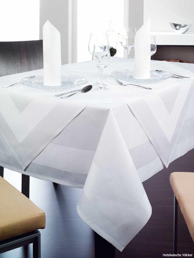 tischw sche paris weisse damast tischdecken mit. Black Bedroom Furniture Sets. Home Design Ideas